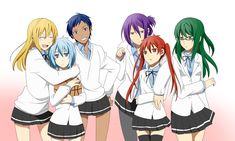 They all look so good and cute, I love how Aomine's hair stays short, I think she'd look funny if it was longer