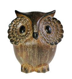 Otagiri Mercantile Stoneware Ceramic Owl Still Piggy Bank | Etsy Ceramic Owl, Etsy Handmade, Piggy Bank, Stoneware, Vintage Items, Skull, Etsy Shop, Ceramics, Bird