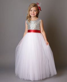 Princess Selena Dress (Red & Silver) - Itty Bitty Toes  - 2