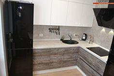 Кухня бело-серая дизайн