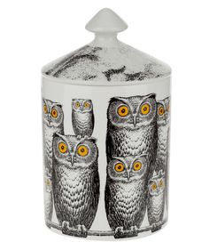 FORNASETTI owl candle....I so would love this!