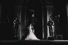Bride peeking at the wedding venue Eastnor Castle Wedding Photography Image by ARJ Photography Image Photography, Wedding Photography, Wedding Events, Wedding Ceremony, Eastnor Castle, Fairytale Castle, Civil Wedding, Romantic Weddings, Beautiful Bride
