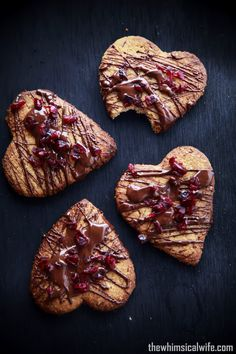 Chocolate & Cranberry Almond Cookies | The Whimsical Wife