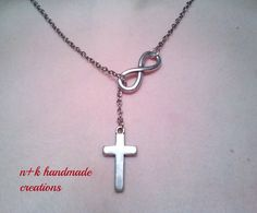 Handmade pendant made of silver chain. by thenkcreations on Etsy
