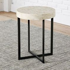 "Any room: living or bedrm? comes small 17""diamx22h or large 24""diamx26.5h Bone Side Table #westelm"