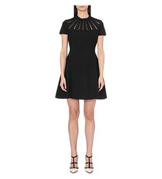VALENTINO Embroidered Knitted Dress. #valentino #cloth #dresses