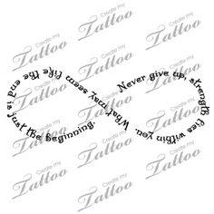 Marketplace Tattoo Infinity symbol made with Strength quote #12318 | CreateMyTattoo.com