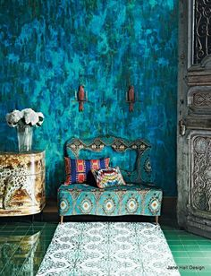 Bohemian Style living room from House and Garden UK