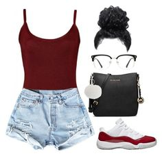 """""""Untitled #115"""" by amaiah14 ❤ liked on Polyvore featuring MICHAEL Michael Kors, Lipsy and GlassesUSA"""