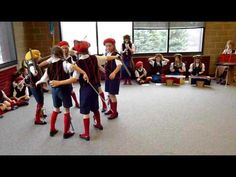 This is a Minstrel dance I saw at a music conference and here it is done by children.  Terrific