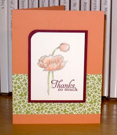 Snapdragon Stamps: Cantaloupe Poppies