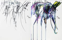 ruth oosterman - reinterpretacion del dibujo hecho por su hija
