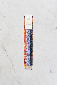 Rifle Paper Co - Writing Pencils - Set of 12 - Floral