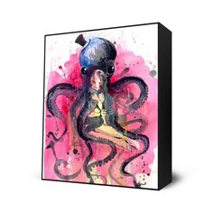Amazon.com - Hugs Mini Art Block Print - 10 X 12 inches by Lora Zombie -