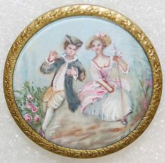 1860s painted French button.
