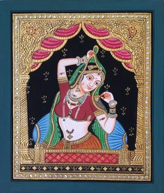 Mughal Paintings, Persian Miniatures, Rajasthani art and other fine Indian paintings for sale at the best value and selection. Mysore Painting, Tanjore Painting, Krishna Painting, Krishna Art, Mughal Miniature Paintings, Mughal Paintings, Indian Paintings, Art Paintings, Glass Painting Patterns