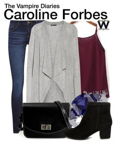 """""""The Vampire Diaries"""" by wearwhatyouwatch ❤ liked on Polyvore featuring DL1961 Premium Denim, WithChic, Vince, Miadora, Steve Madden, television and wearwhatyouwatch"""