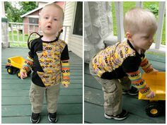 Make your own super cute t-shirt for your little one with this digital PDF e-pattern and tutorial!  This basic t-shirt features a fun zig-zag or lightning bolt across the front. Make this shirt with short, long, or layered sleeves. This shirt is perfect for mixing and matching fun fabrics!  NOTE: This was previously sold by E+M Patterns (which is no longer selling patterns) under the name: Shirt Pattern No.22.  Please see the listing photos for sizing and materials charts (click the zoom…