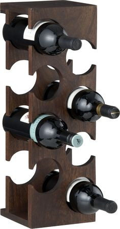 Woodinville 8-Bottle Wine Rack  | Crate and Barrel --Just because of the name I think I need this.--aw--