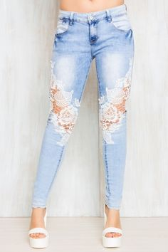 jeans with lace - Google Search