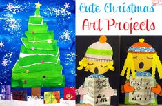 Cute Christmas art and craft projects for kids from my favorite art bloggers
