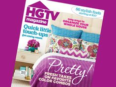 What's New in HGTV Magazine's March Issue #hgtvmagazine http://blog.hgtv.com/design/2015/02/09/take-a-look-at-the-new-march-issue-of-hgtv-magazine/?soc=pinterest
