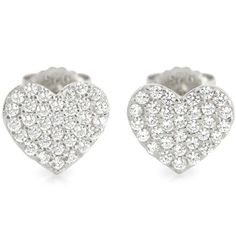 ALEXI White CZ Mini Heart Silver SIE004 Ear Studs SIE004 - 5 Star Customer Service, Free First Class Delivery & Official ALEXI stockist. Full Range of ALEXI available at http://www.identityonline.biz/products/ALEXI/1909