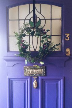 purple painted front door with valspar Front door makeover by old fashioned susie, and her husband! In fact the Mr did most of the work