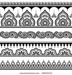 black and grey paisley tattoo - Google Search