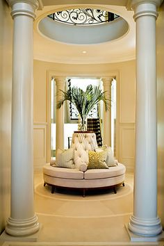 Feng Shui - Feng Shui Entry - Curves allow for Chi (energy) to Circulate and Flow throughout the Home. Custom Furniture, Furniture Plans, Furniture Decor, Furniture Design, Sofa Design, How To Feng Shui Your Home, Feng Shui House, Settee, Decor Interior Design