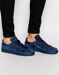 Lækre adidas Originals Stan Smith Suede Trainers - Blue adidas Originals Løbesko til Herrer til hverdag og fest