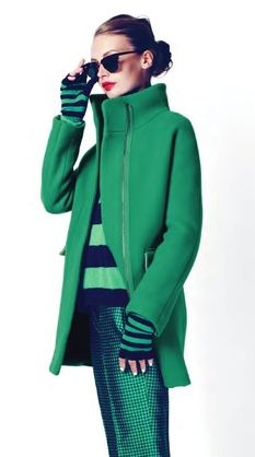 Mona Johannesson for @J.Crew December 2012 #coloroftheyear