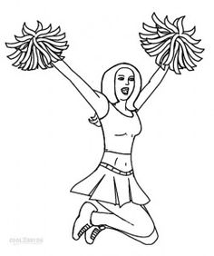Free Coloring Pages Cheerleading Coloring pages My coloring