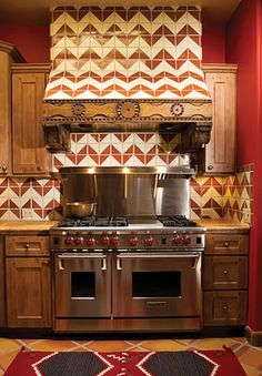Mexican Kitchen Design [ MexicanConnexionForTile.com ] #Hacienda #kitchen #Talavera #handmade