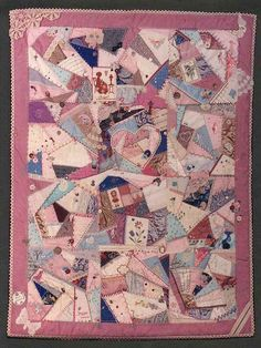 Crazy Quilting lessons - piecing, embroidery,  embellishments, etc. (Lessons and Quilt by Annie Whitsed)