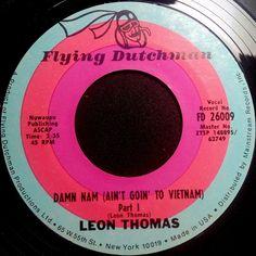 "Leon Thomas – Damn Nam (Ain't Goin' To Vietnam) 7"" JAZZ SOUL"