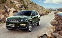 Download wallpapers Jeep Compass, 4k, 2017 cars, SUVs, 4x4, offroad, new Compass, Jeep