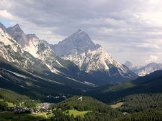 Going into Cortina, Italy