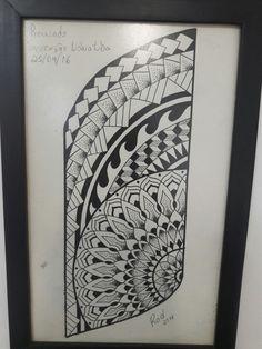 Desenho maori samoa tattoo.