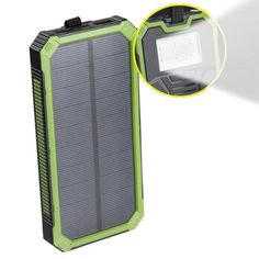 20000mAh Dual USB waterproof Solar Power Bank with LED light
