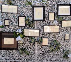 #SeatingPlan súper elegante del #Parador de #Cádiz #RomanticWeddings #ChicWeddings