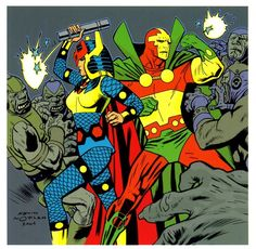 "fllmetl: ""Big Barda & Mister Miracle by Kevin Nowlan """