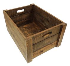 Large Rustic Cedar Wood Crate by FreeStateCrates on Etsy, $85.00
