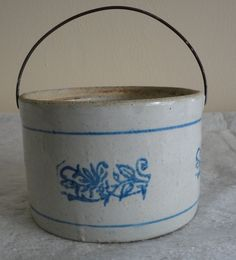 Antique Cobalt Butter Crock.  via Etsy.