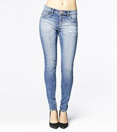 Get the perfect hourglass silhouette with this pair of high waist jeggings.