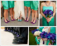 My one day purple and teal wedding, I would want the dress to be a darker teal.