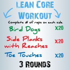 3 Moves for a Lean Core
