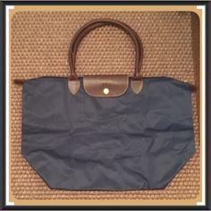 Popular Light Longchamp Embroidered Bags Blue