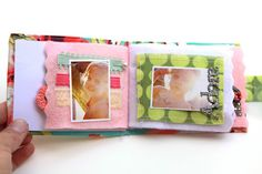 fabric and felt album. if you use photo transfer to put pictures onto fabric, this would be great for a baby