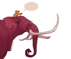 Heffalump am I, Biggest of all, Huge old and tall. This is absolutely PERFECT! By the lovely shoomlah.